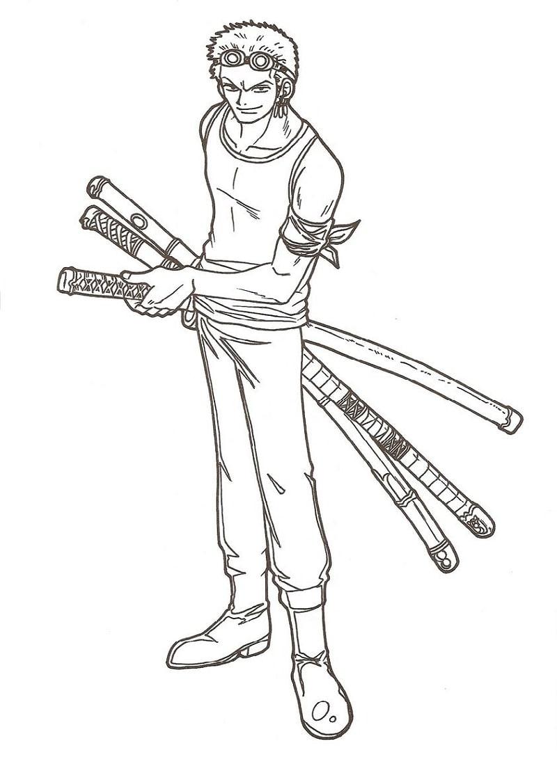 Roronoa Zoro with 3 swords