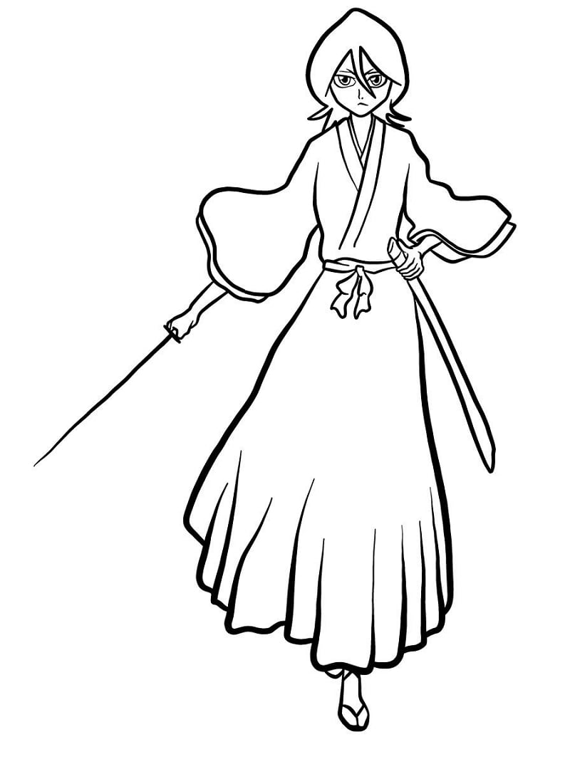 Printable Rukia Kuchiki Coloring Pages