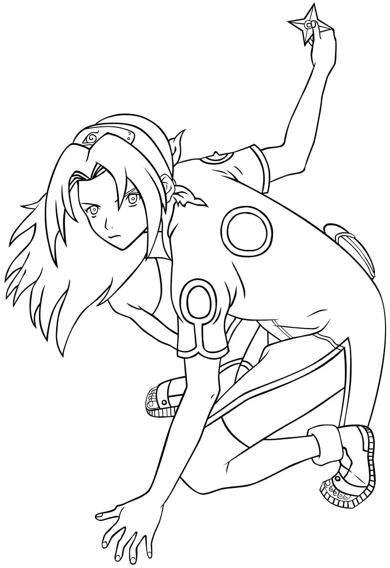 Printable Sakura Haruno Coloring Pages