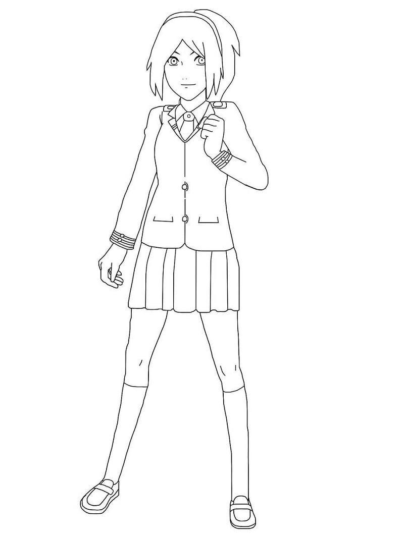 Sakura Haruno Wearing Uniform