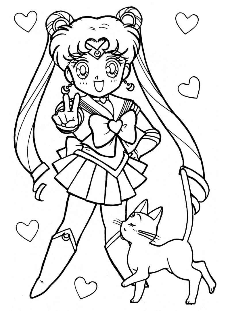 Printable Usagi Tsukino Coloring Pages