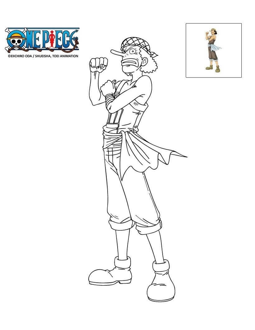 Printable Usopp Coloring Pages
