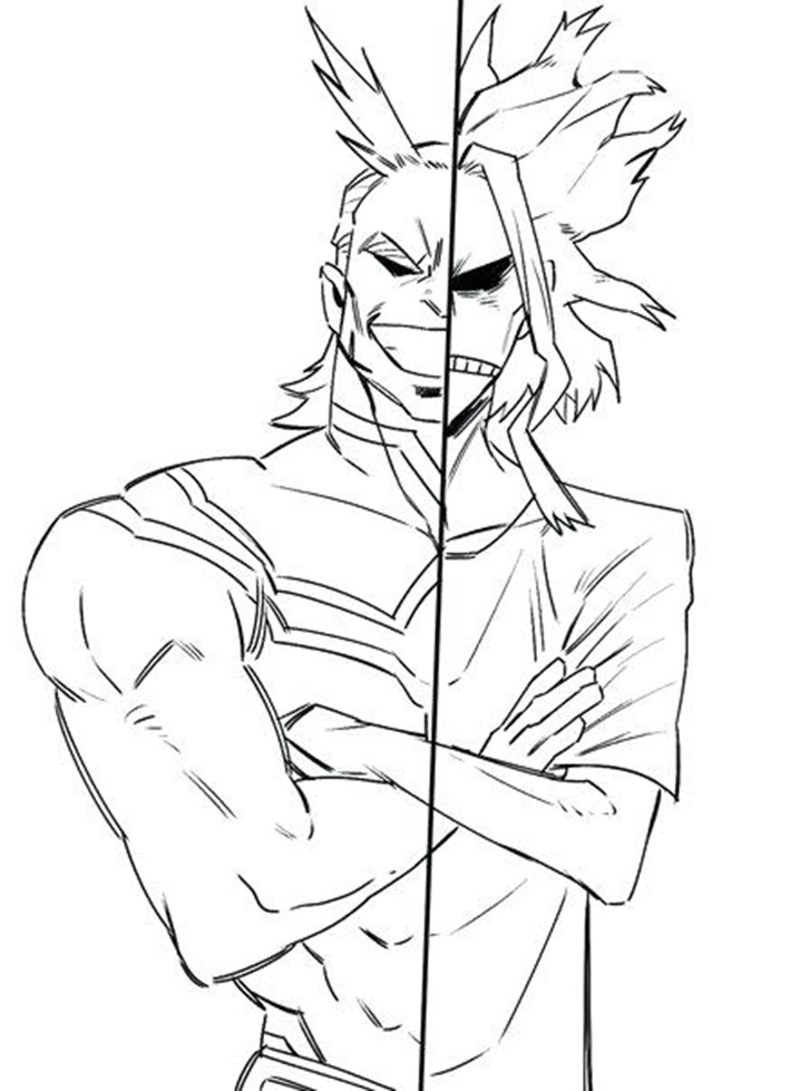 All Might in My Hero Academia