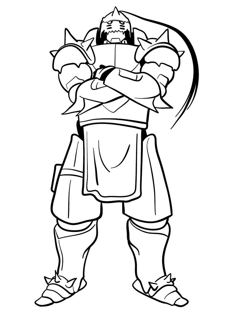 Printable Alphonse Elric Coloring Pages