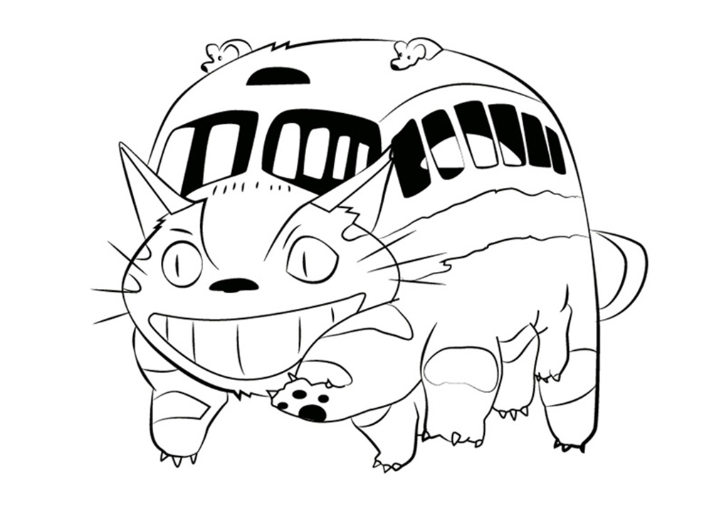 Printable Catbus Coloring Pages