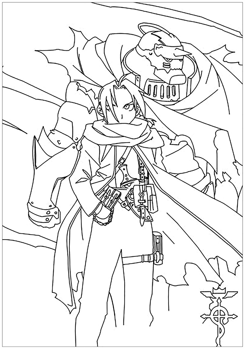 Printable Edward Elric Coloring Pages