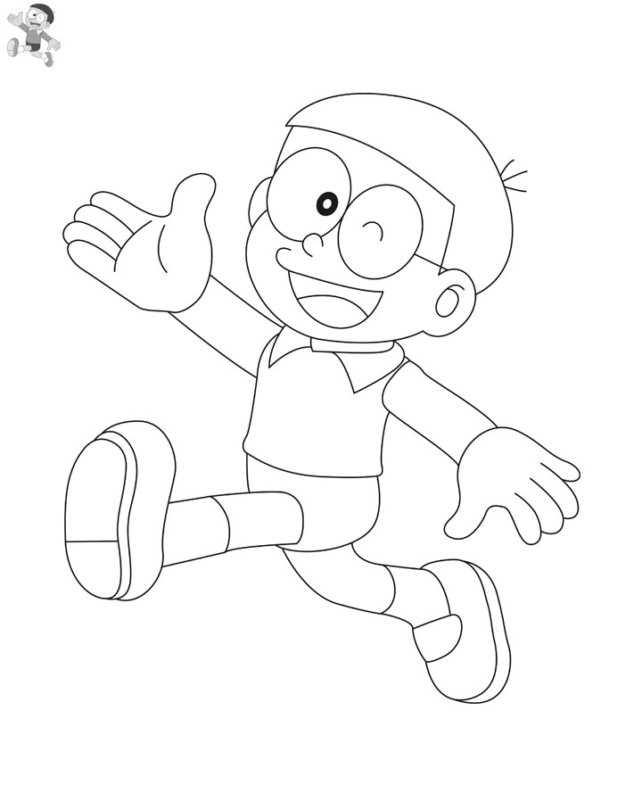 Printable Nobita Coloring Pages