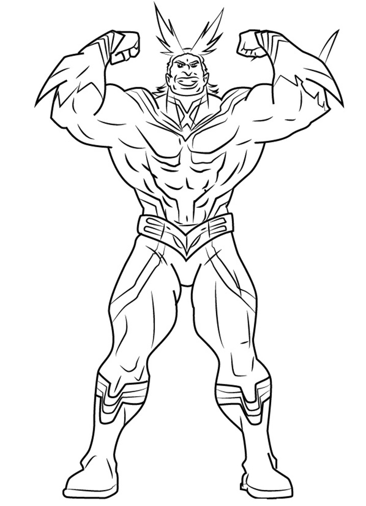 Printable All Might Coloring Pages