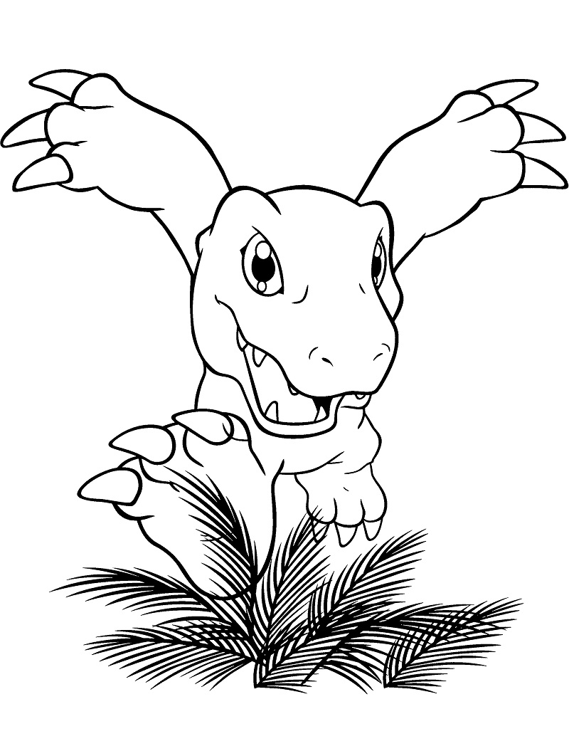 Printable Digimon Agumon Coloring Pages