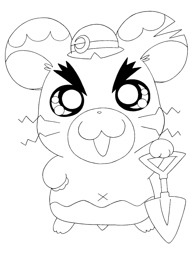 Printable Boss Hamtaro Coloring Pages