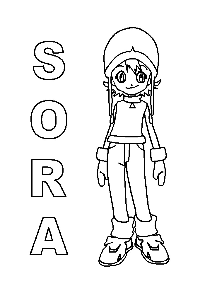 Printable Sora Takenouchi Coloring Pages