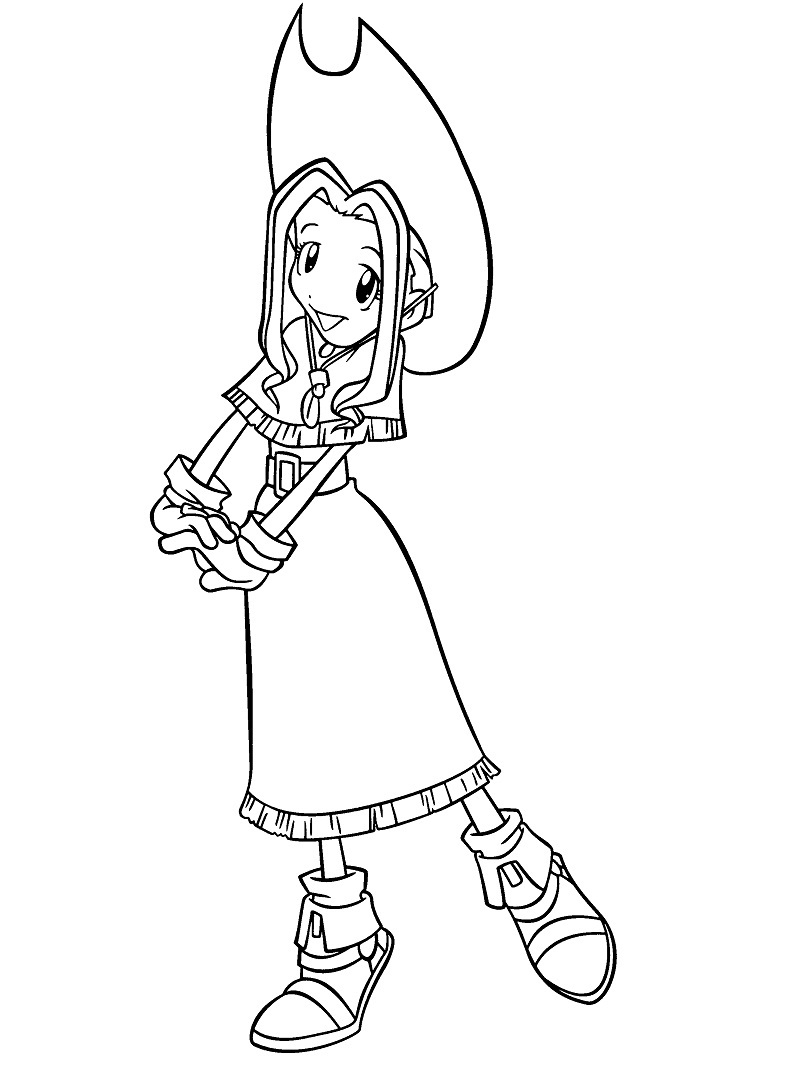 Printable Tachikawa Mimi Coloring Pages