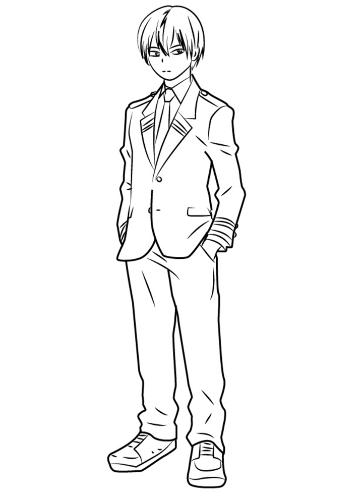 Printable Todoroki Shouto Coloring Pages