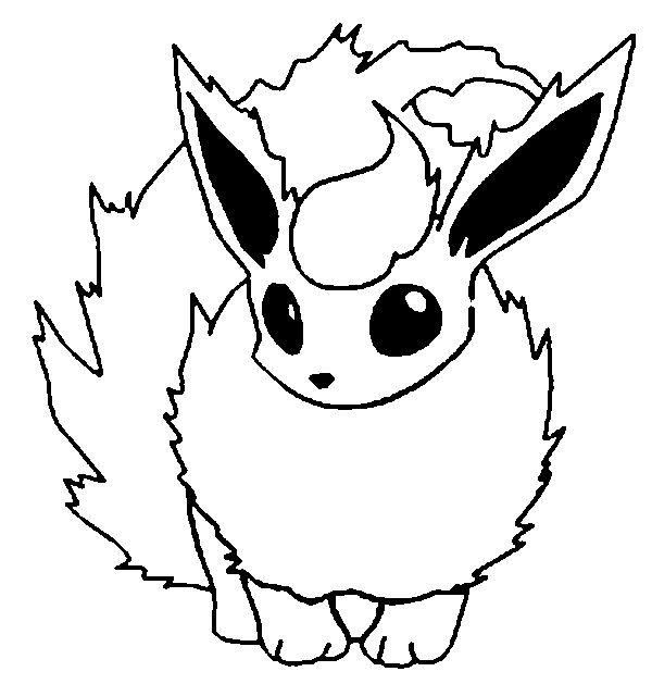 Printable Flareon Coloring  Pages
