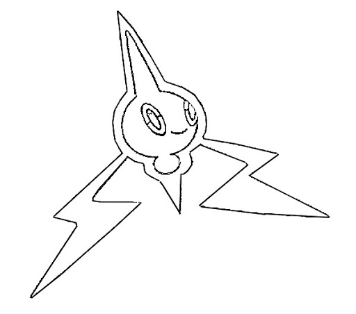 Printable Heat Rotom Coloring  Pages