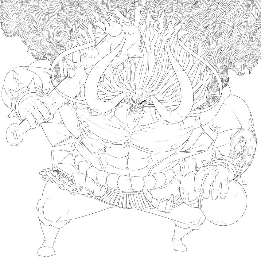 Printable Kaido Coloring  Pages