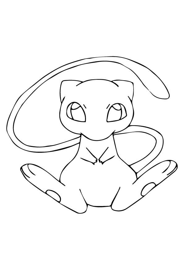 Printable Mew Coloring  Pages