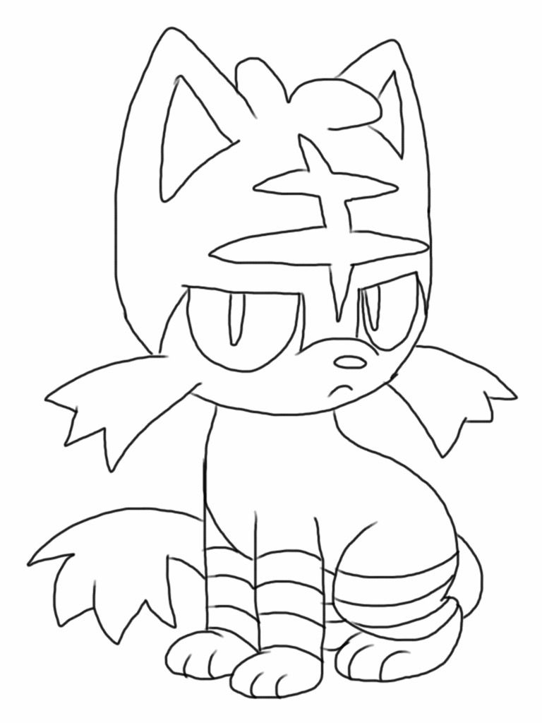 Printable Litten Coloring  Pages