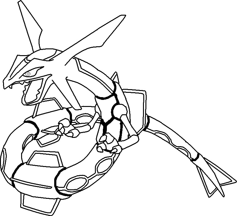 Printable Rayquaza Coloring Pages