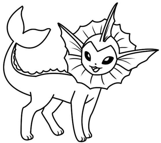 Top 10 Printable Vaporeon Coloring  Pages