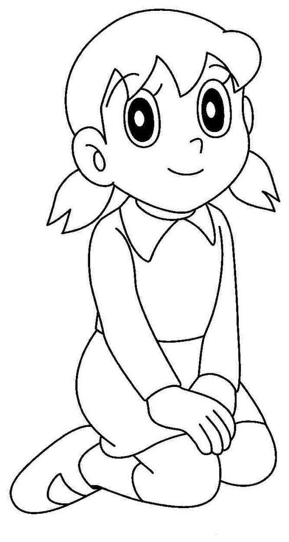 Printable Shizuka Coloring Pages
