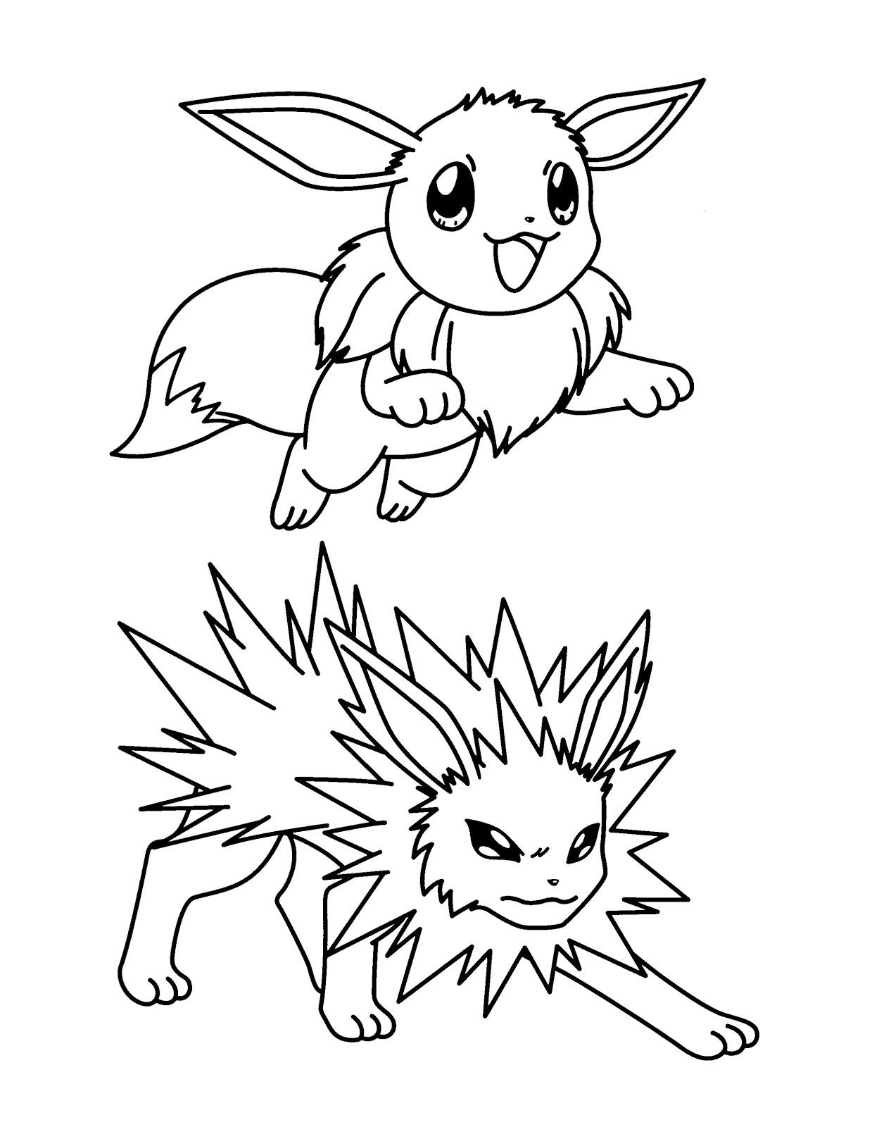 Eevee and Jolteon
