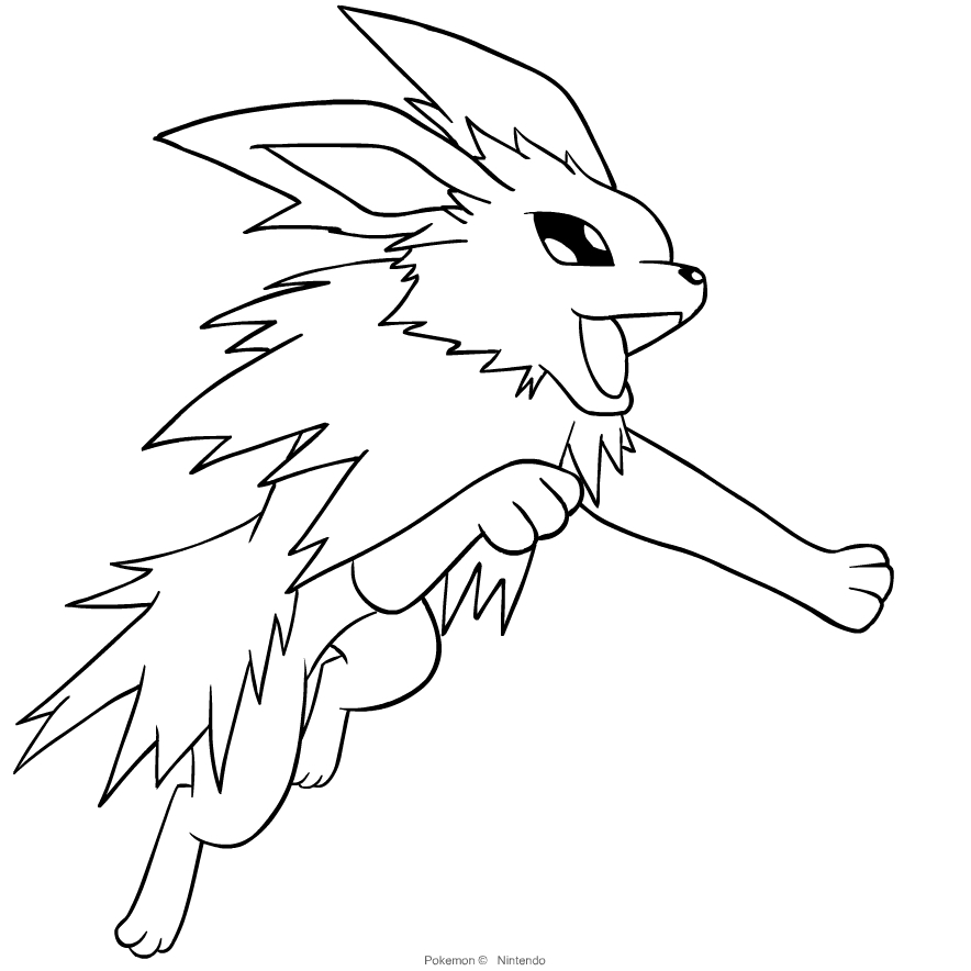 Printable Jolteon Coloring  Pages