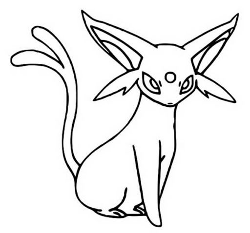 Printable Espeon Coloring  Pages
