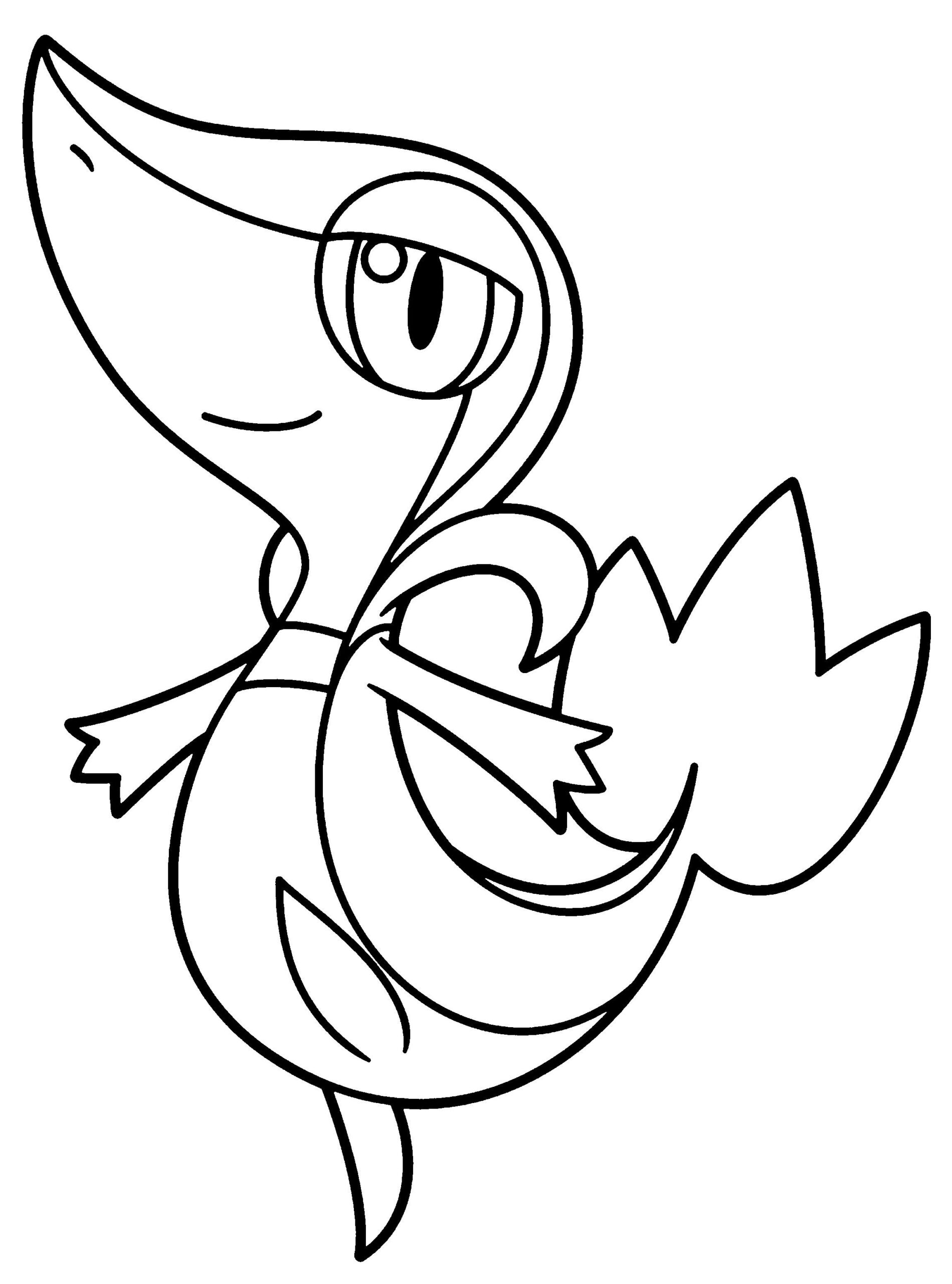 Printable Snivy Coloring Pages