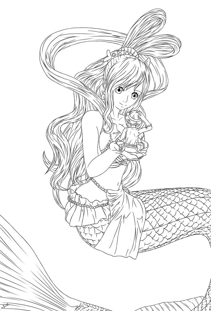 Printable Shirahoshi Coloring Pages