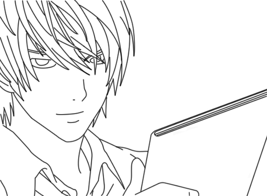 Printable Yagami Raito Coloring Pages