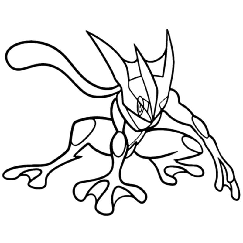 Printable Greninja Coloring Pages