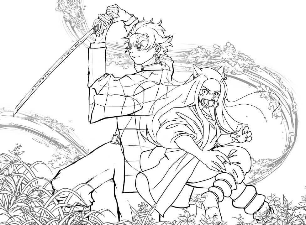 Nezuko and Tanjiro Demon Slayer