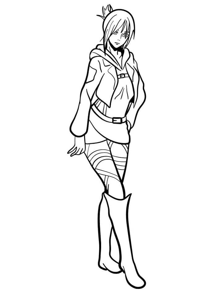 Printable Annie Leonhart Coloring Pages