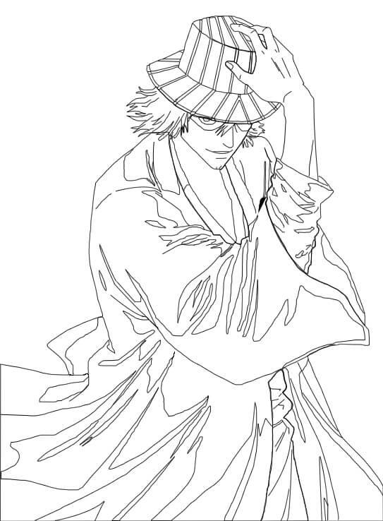 Printable Urahara Kisuke Coloring Pages