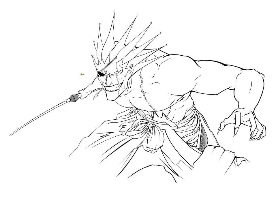 zaraki kenpachi fighting
