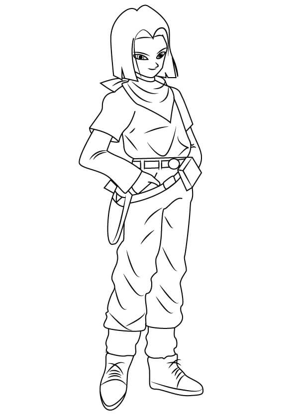 android 17 smiling
