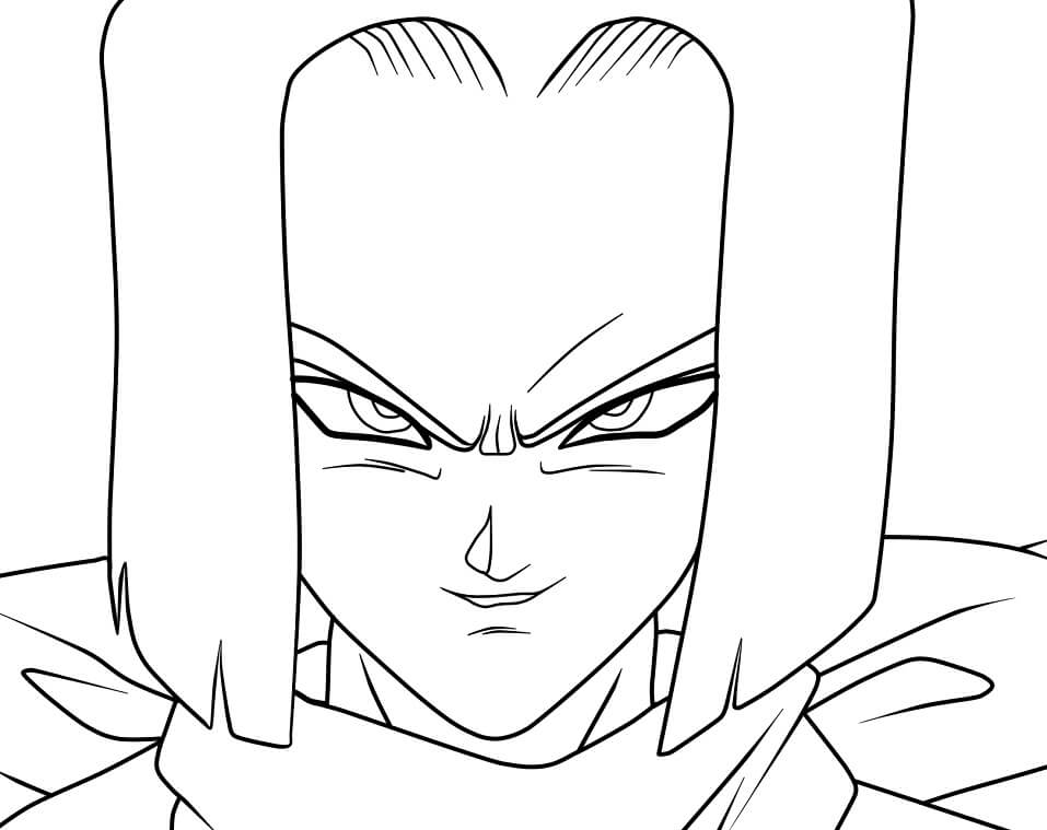 android 17's angry face