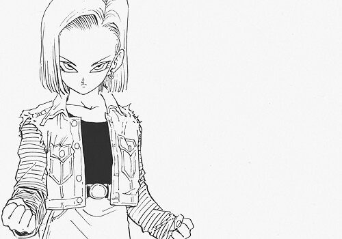android 18 ready to fight