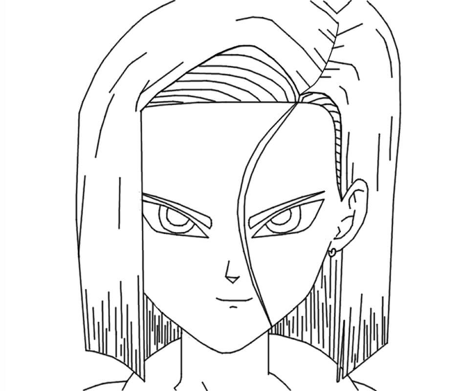 android 18 smiling