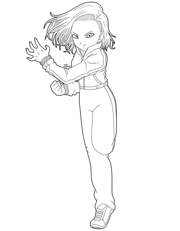 android 18 training