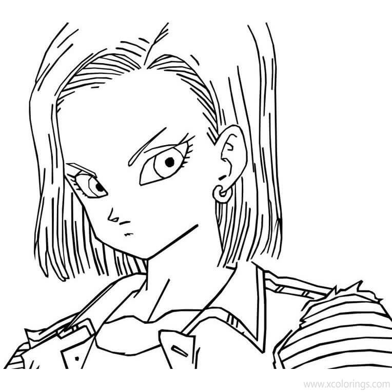 android 18's face