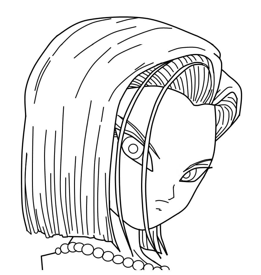 android 18's normal face