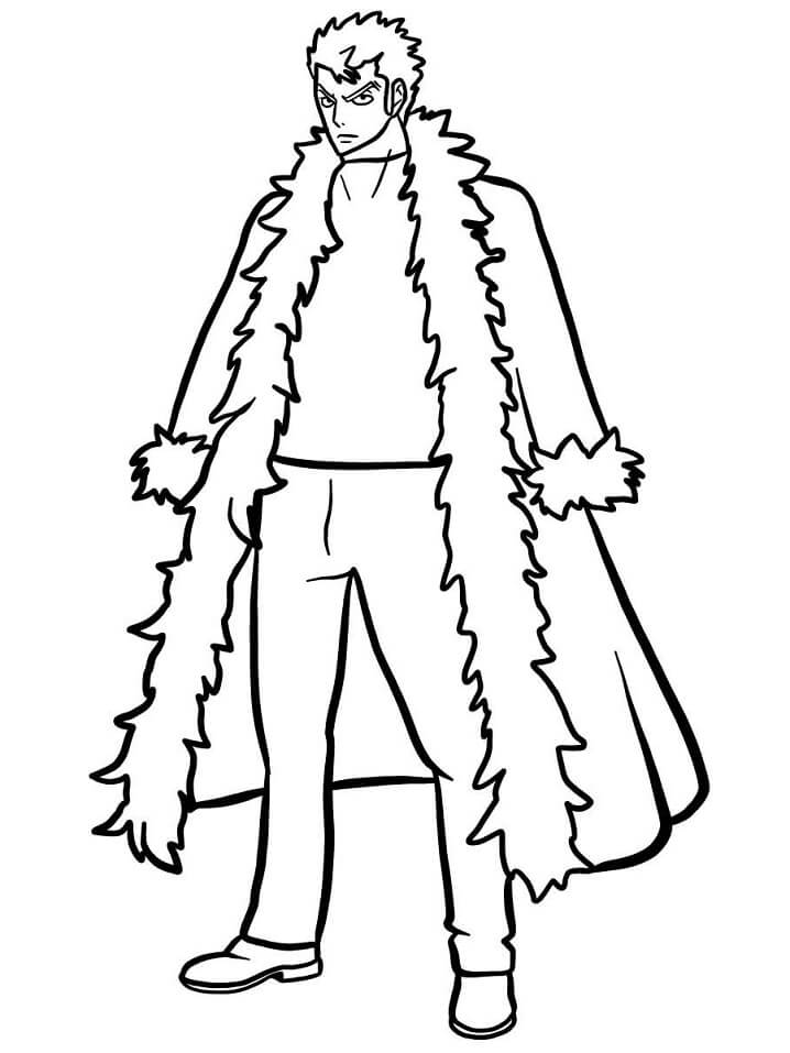 Printable Laxus Dreyar Coloring Pages