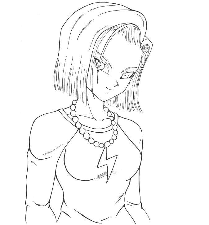 beautiful android 18