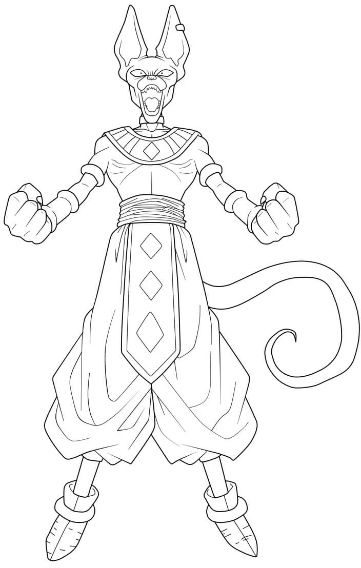 Printable Beerus Coloring Pages