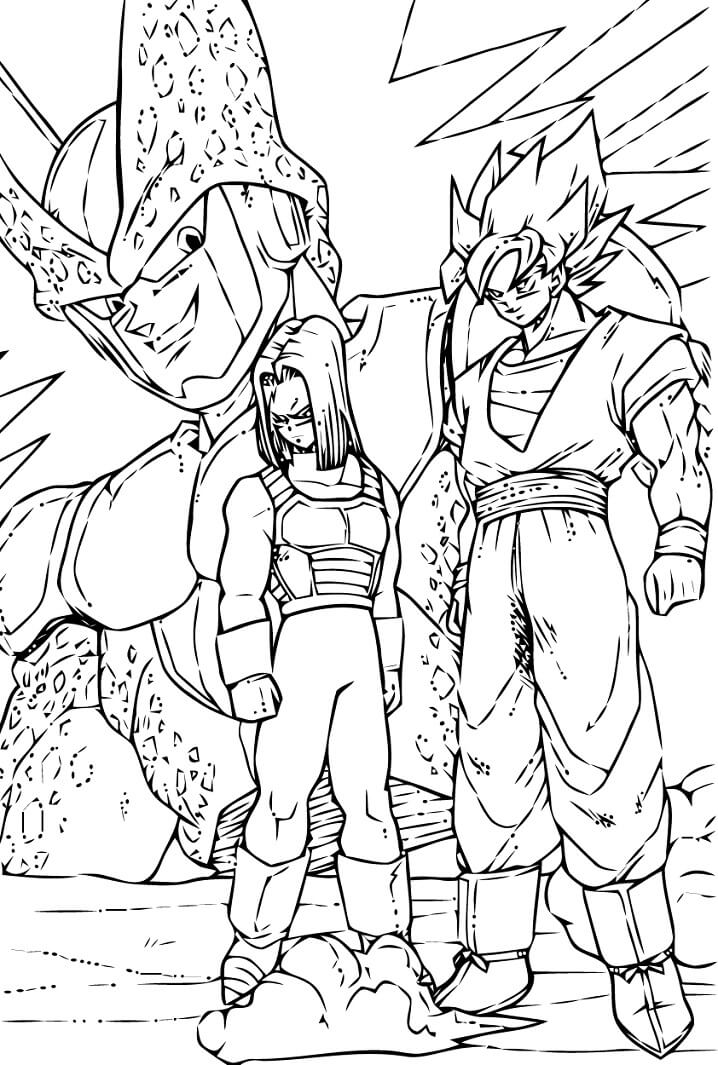 cell vs goku and android 17