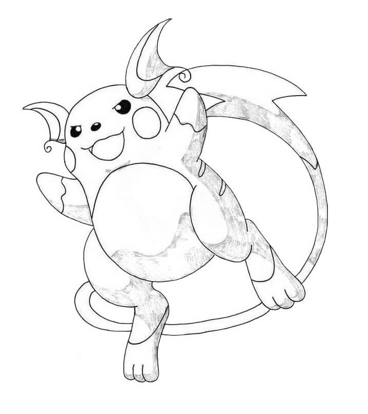 cute raichu pokemon