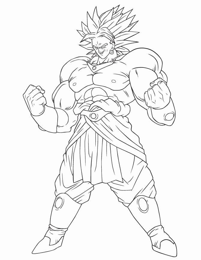 Printable Broly Coloring Pages