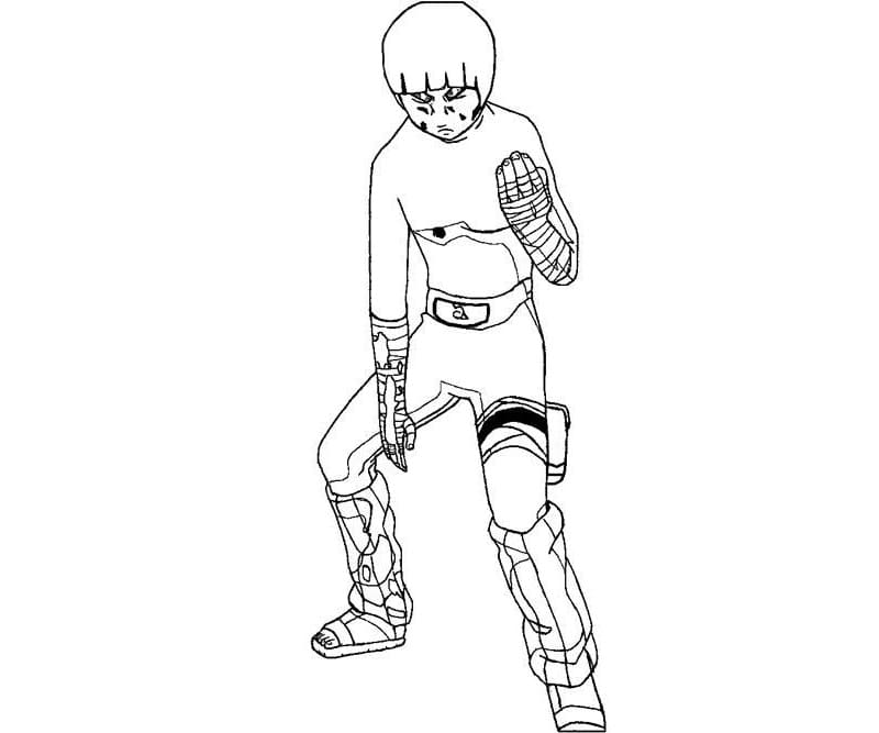 exhausted rock lee